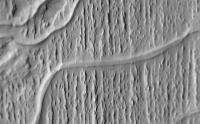 Curving Ridges in Aolis Planum