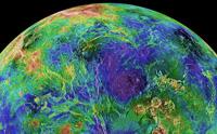 PIA 00007 Venus: Hemispheric View Centered at the North Pole