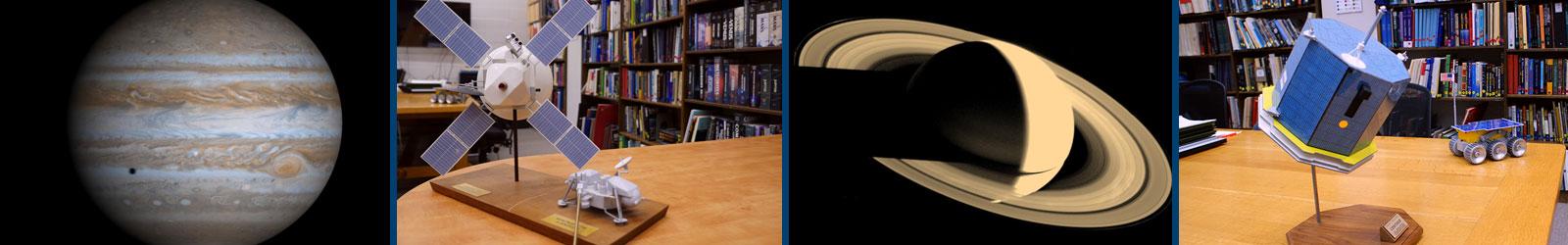 SPIF Banner: library probe prototypes Jupiter Saturn